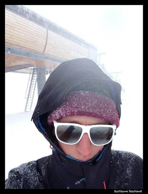 C'est la tempête à 2 400 m - Sommet du Télésiège Gypaète