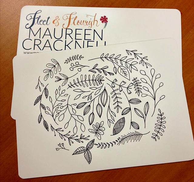 Fleet & Flourish Coloring Post Card -- Exclusively at the Intrepid Thread