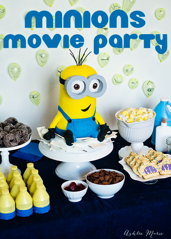 The minions movie was a HUGE hit at our house, so of course we had to have a Minions birthday party, tons of food, crafts and games along with watching this adorable movie, it was a huge birthday success