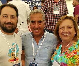 L'ex Ministro Maurizio Gasparri assieme alla numero 2 di FI Beatrice De Donato e al segretario Giuseppe L'Abbate