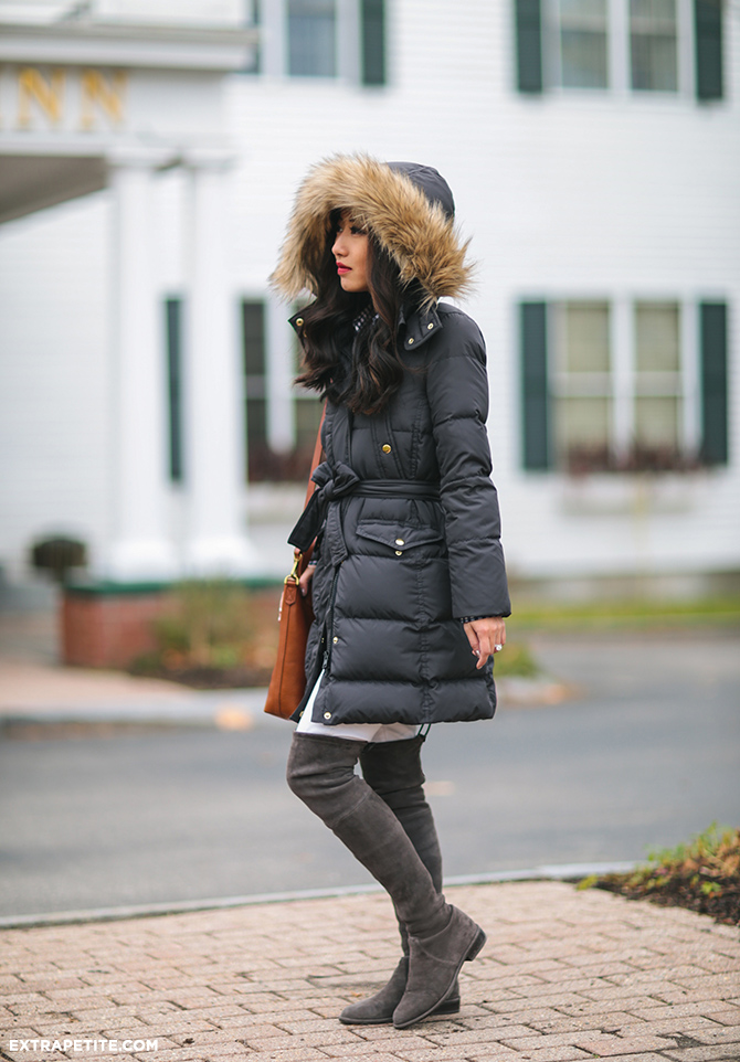 jcrew petite down winter coat review