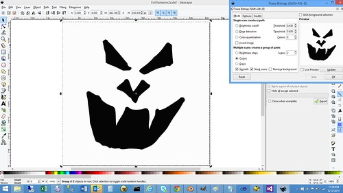 Inkscape - TraceBitmap in Action