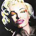 Marilyn Monroe Chiaroscuro by K. Fairbanks