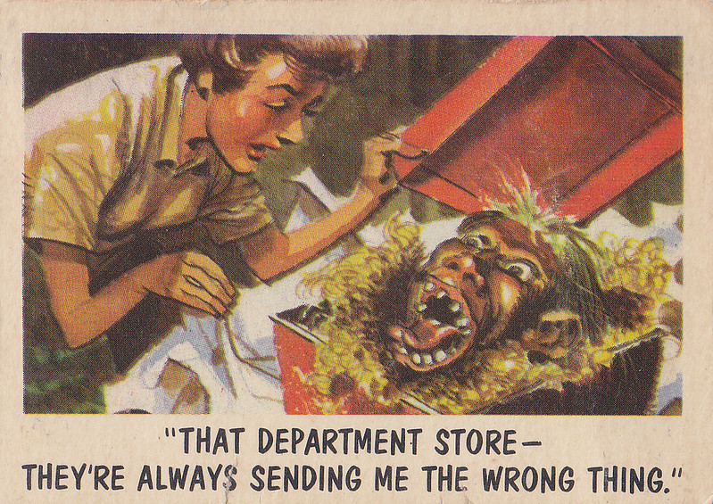 """You'll Die Laughing"" Topps trading cards 1959,  illustrated by Jack Davis (43)"