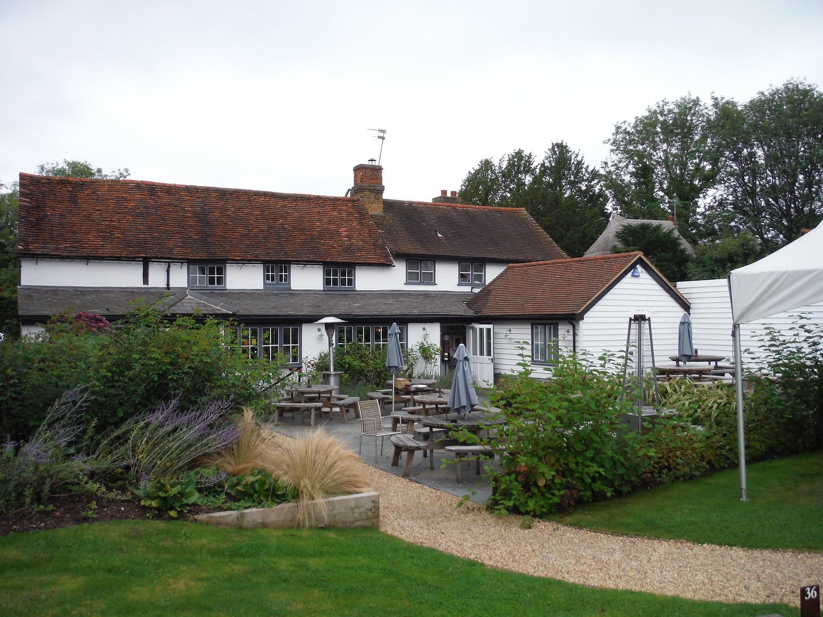 The Hoops Inn (back) SWC Walk 164 Roydon to Sawbridgeworth via Henry Moore Foundation