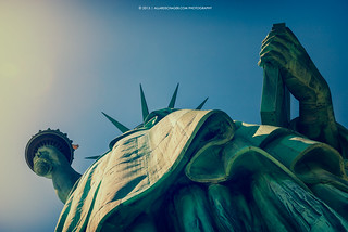 Below Statue of Liberty