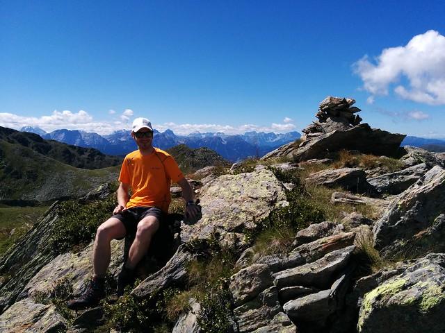 Am Gipfel des Knebelstein, Antholzertal