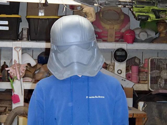 Phasma Helmet Prototype Test Fit 1