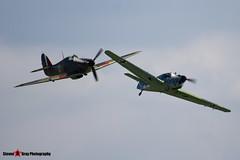 G-ATBG NJ+C11 - 121 Nord 1002 Pingouin II & G-HUPW R4118 UP-W - G5-92301 - Hawker Hurricane I - Duxford Cambridgeshire - 150920 - Steven Gray Stevipedia - IMG_2576