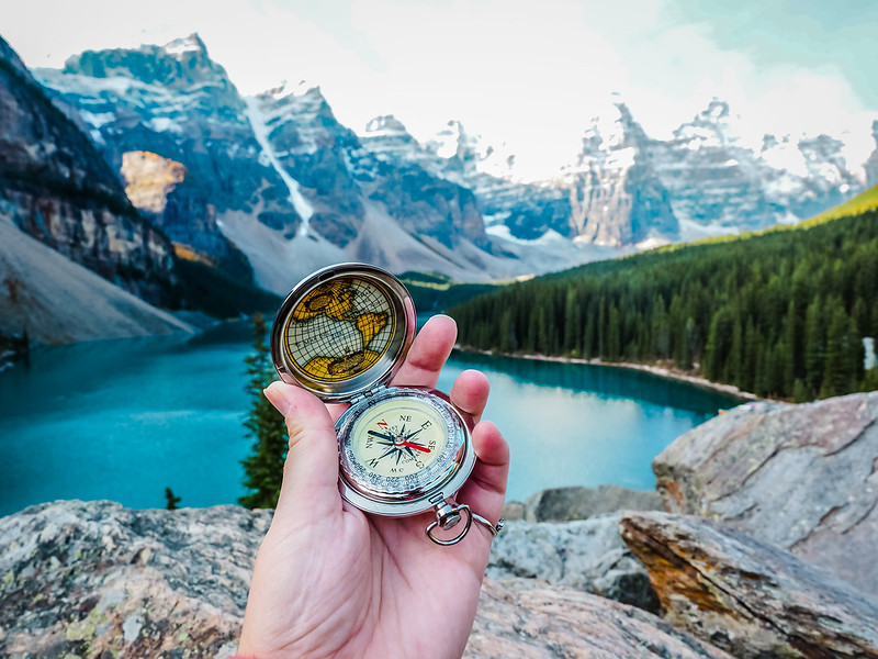 Compass at Moraine Lake