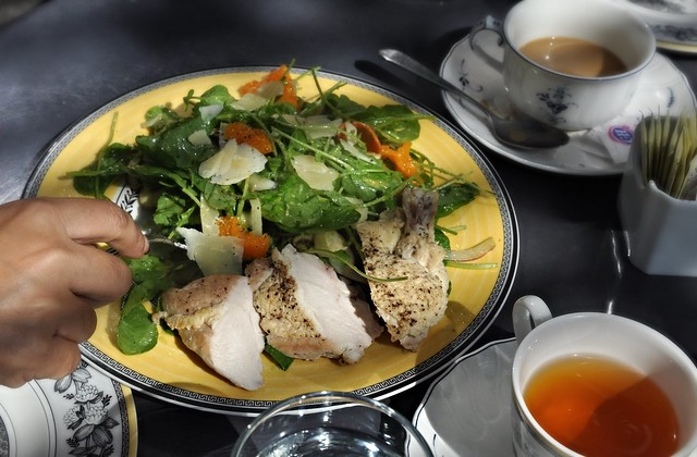 Arugula and Watercress with Chicken Breast