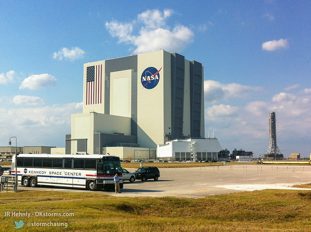 Thu, 11/01/2012 - 15:18 - NASA's massive Vehicle Assembly Building (VAB), 526 feet (160.3 m) tall. This is where the Apollo Saturn V rockets were assembled, as well as the Space Shuttle. The upcoming Space Launch System (SLS) rockets will be assembled here. 
