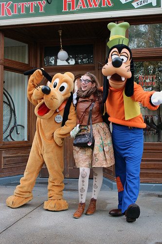 Meeting Pluto and Goofy