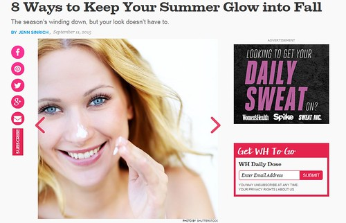 Dr. Joel Schlesssinger shares tips for keeping your summer glow in fall with Women's Health