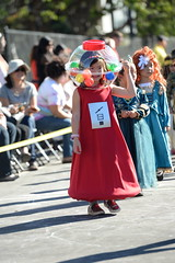 kira's gumball machine costume at the school halloween parade