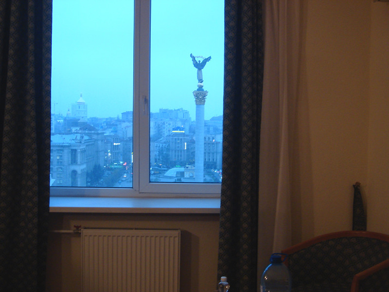 maidan view from the hotel ukraine