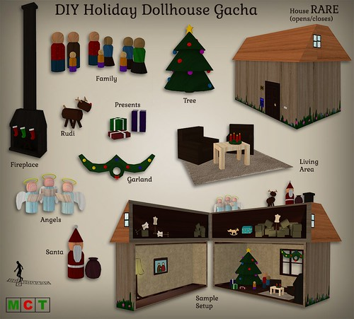 DIY Holiday Dollhouse Gacha