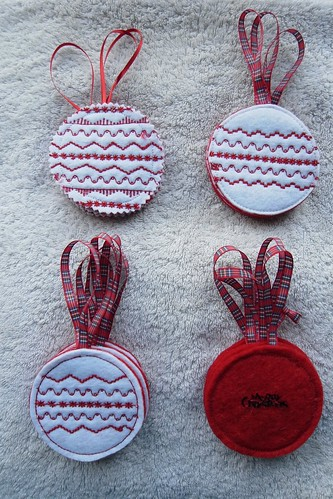 Red baubles and paste printing