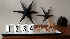 1,2,3,4almostchristmas #designletters #arnejacobsen #black&white #stars #delightdepartment #bambi #schleich #christmasdeco #@home