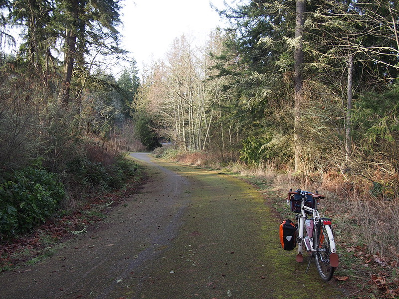 Mossy Olympic Discovery Trail: It's actually the old highway.