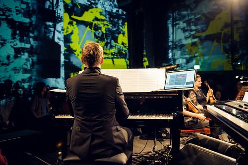 Max Richter und Ensemble bei der Yellow Lounge im Saeaelchen in Berlin am 26.01.2017