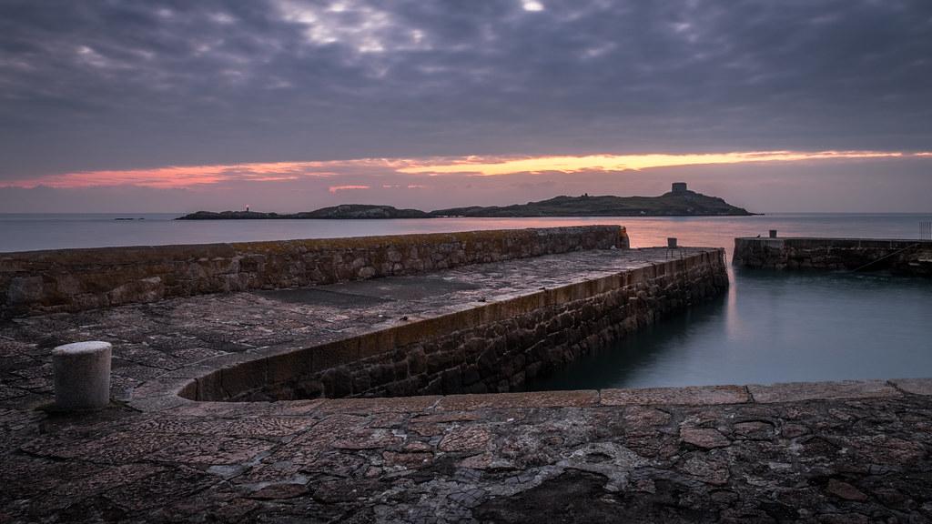 Sunrise in Coliemore Harbour, Dublin, Ireland picture