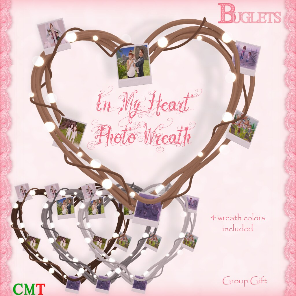 In My Heart Photo Wreath AD - SecondLifeHub.com