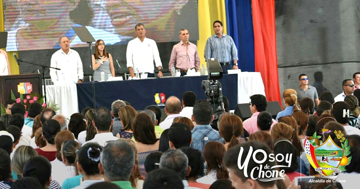 Presidente Rafael Correa inauguró Centro de Salud Tipo C en Chone