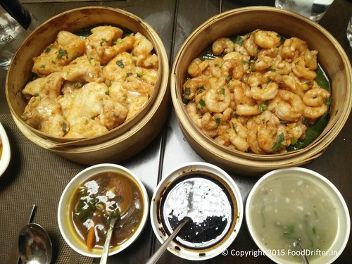 Steamed Shrimps And Fish