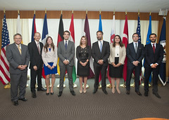 Deputy Secretary of State for Management and Resources Heather Higginbottom poses for a photo with the Transatlantic Diplomatic Fellows at the U.S. Department of State in Washington, D.C., on August 27, 2015. [State Department photo/ Public Domain]