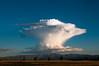 Lenticular Cloud against deep blue sky by Princessa Pea