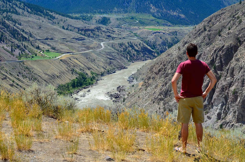 Looking out at the Fraser Canyon