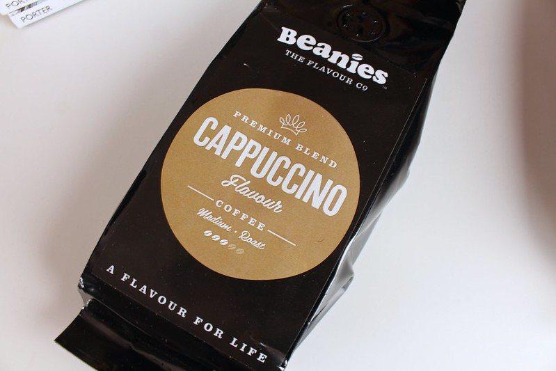 beanies, premiumblend, cappuccino, coffee, beaniestheflavourco,