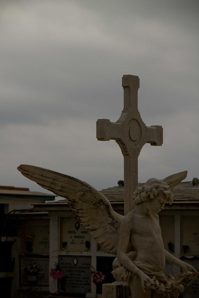 Cemetery behind San Giorgio Church in Portofino