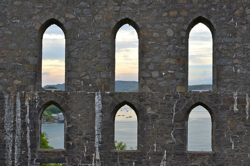 View of Oban harbour from McCaig's Tower