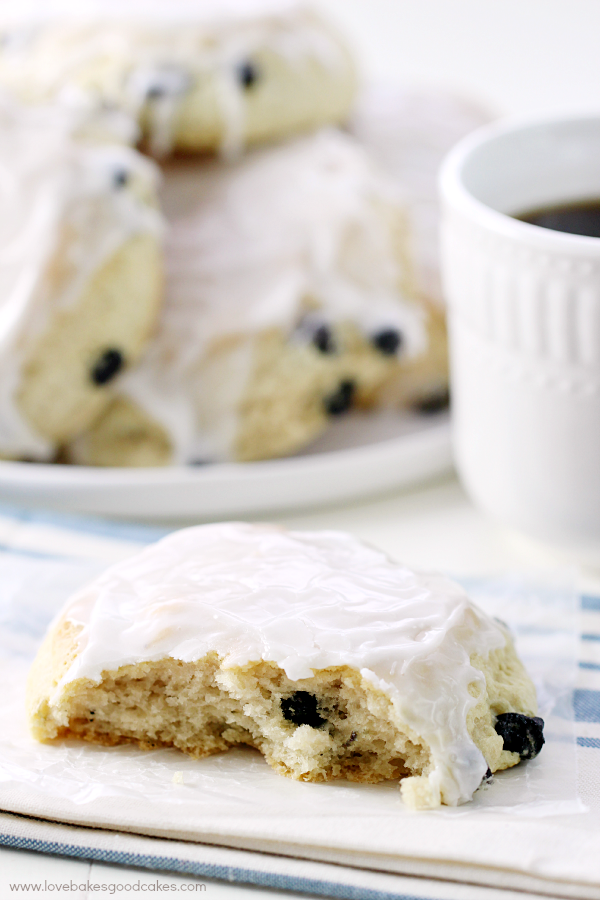 These Iced Blueberry Scones make the perfect accompaniment to breakfast!