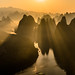 Sunrise on Li river by Karine EyE