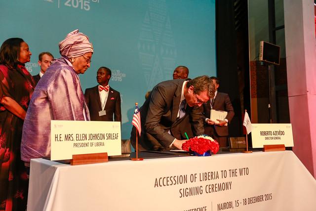 Accession of the Republic of Liberia to WTO