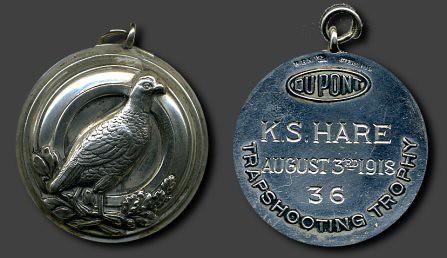 1918 Sterling Silver DuPont Long Run Fob