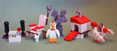 The Chickens Acting Suspiciously Playset