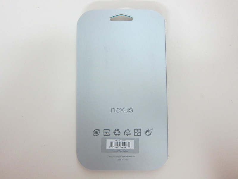 Nexus 6P Official Case - Packaging back