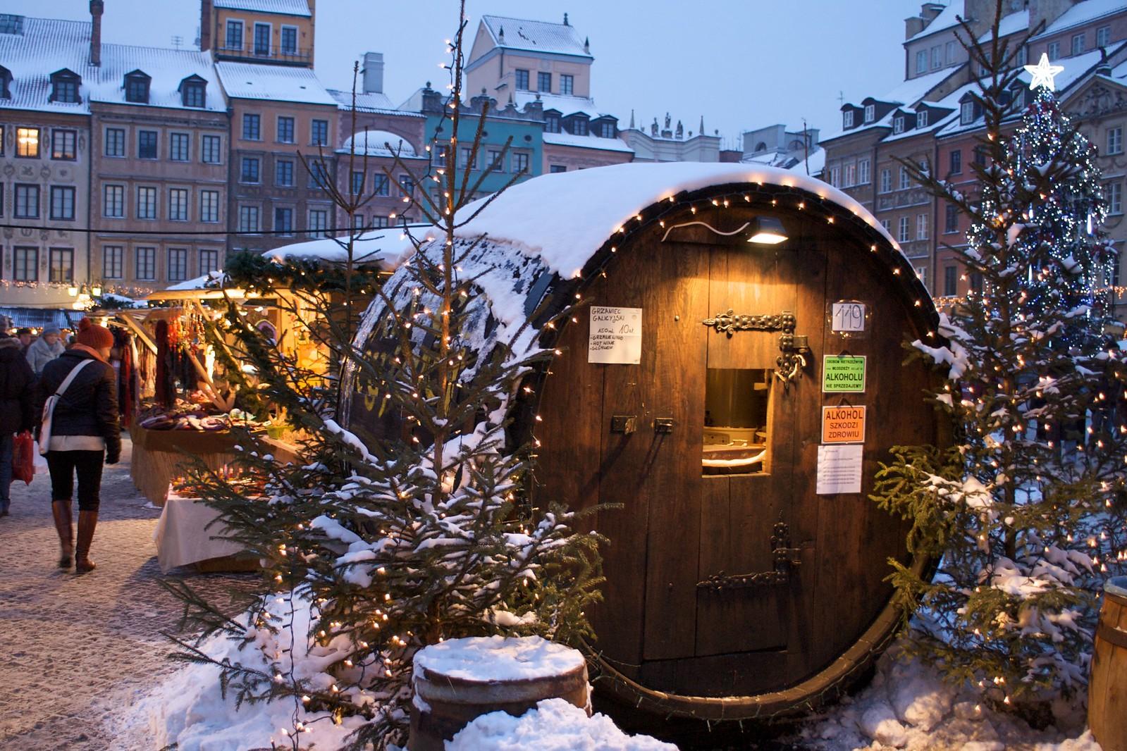 Christmas market in Warsaw, Poland. Credit Francois du Plessis
