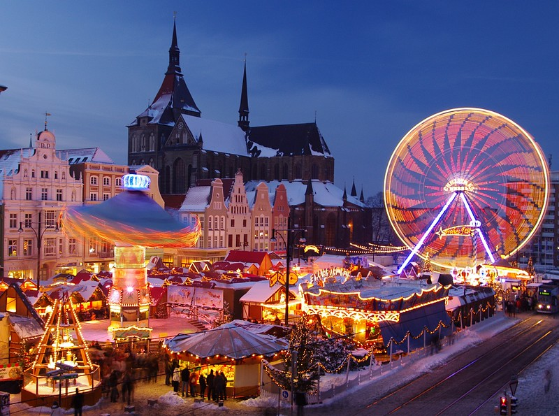 Christmas market in Rostock, Germany. Credit Carsten Pescht