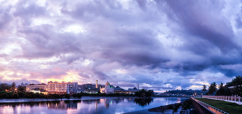 panorama building water clouds sunrise canon soas brunei bandarseribegawan darussalam soasmosque bruneimuara kgayer