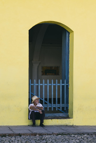 pentax cuba trinidad street urban yellow