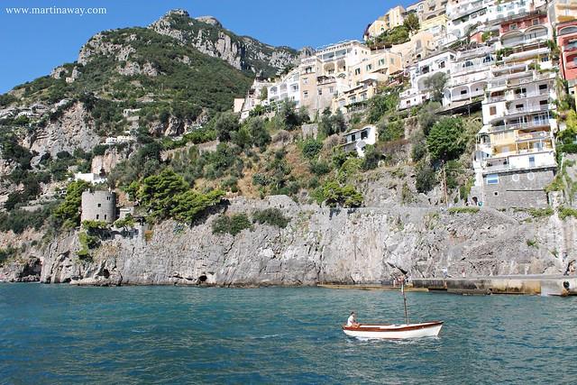 In barca da Positano a Capri
