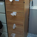 New 4 Drw wooden filing cabinet cw key E150