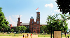 The Smithsonian Castle from across the National Mall - Washington DC