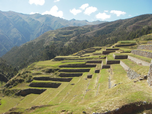 Inca terraces in Chinchero