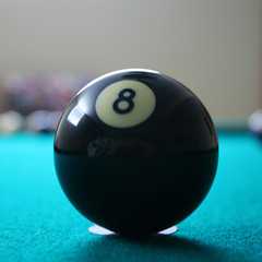 recreation(0.0), carom billiards(0.0), ball(1.0), indoor games and sports(1.0), sphere(1.0), sports(1.0), nine-ball(1.0), pool(1.0), games(1.0), billiard ball(1.0), eight ball(1.0), ball(1.0), cue sports(1.0),